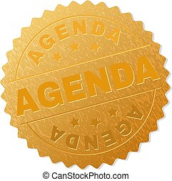 Golden AGENDA Medallion Stamp