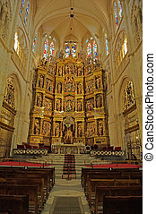 Golden Altar in The Cathedral In Burgos, Spain