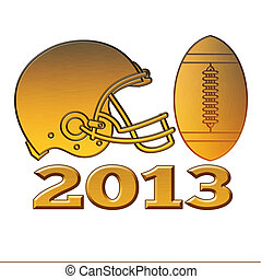 golden american football helmet ball 2013