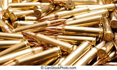 Golden ammo - Rifle ammunition background