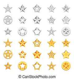 Golden and Silver Stars