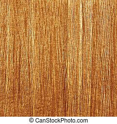 Golden antique grunge crumpled crepe paper texture, natural textured background, vertical copy space, dark sepia