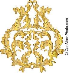 golden arabesque for your design