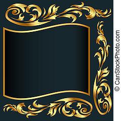 gold(en), arrière-plan gris, modèle