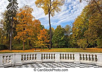 golden autumn in Catherine park, Tsarskoye Selo