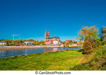 Golden Autumn in Magdeburg, Germany, 2017