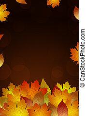 golden autumn leaves decoration