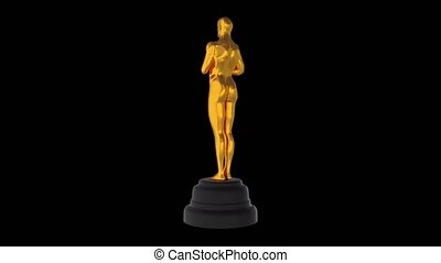 Golden Award Oscar Figure 4k