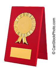 golden award with blank space for your text