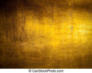 Antique golden grunge background with highlight texture