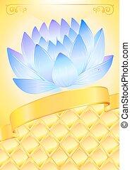 Golden background illustration with