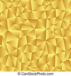 Golden background of the triangles.