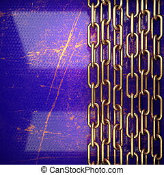 golden background painted in blue