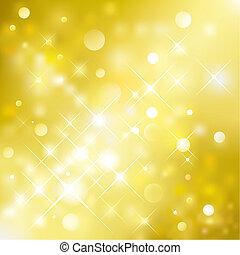 Golden Background - Vector illustration layered of golden ...
