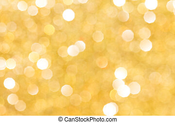 Golden background with bokeh