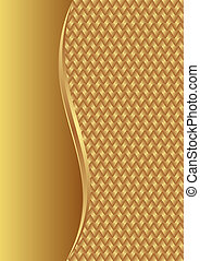 golden background with braid texture