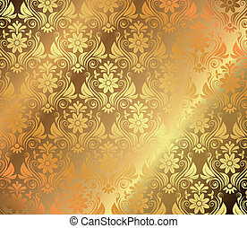 Golden background with floral