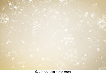 Golden background with snoflakes