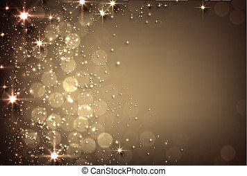 Golden background with stars.