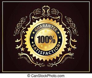 Golden Badge Guarantee Satisfaction