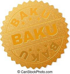 Golden BAKU Badge Stamp