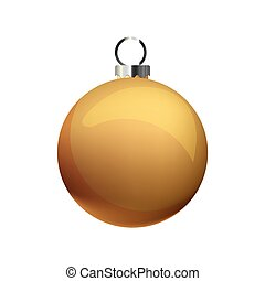 golden ball on white background