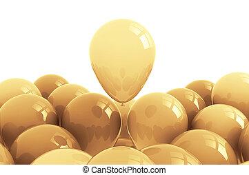Golden balloons celebration background