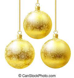 Golden balls set.