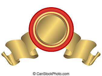 Golden bannerl (vector)