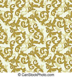 Golden baroque pattern