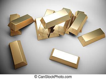 Golden bars concept