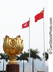 Golden Bauhinia sculpture