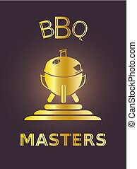 Golden BBQ Masters, luxury grill icon