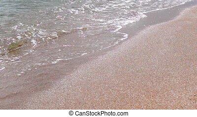 Golden beach surf