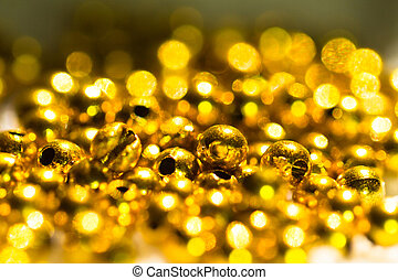 golden beads abstract background II