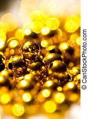 Golden beads background I