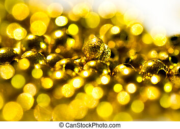 Golden beads background II
