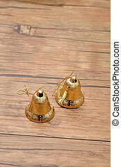Golden bell christmas decorations