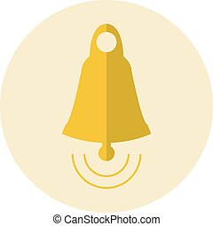 Golden bell icon