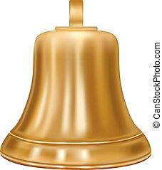 Golden bell in the vector.