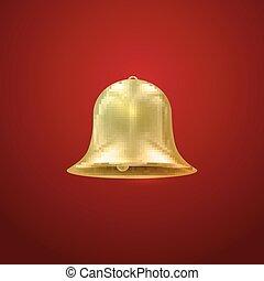 Golden bell. Vector Holiday Illustration
