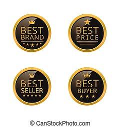 Golden best labels
