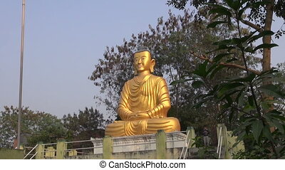 golden big  lord Buddha statue