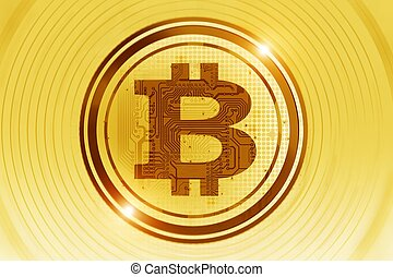 Golden Bitcoin Concept