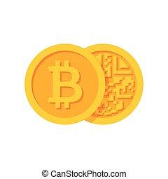 Golden Bitcoins Icon