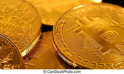 Golden Bitcoins Money. New Virtual Currency