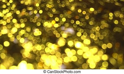 Golden blurred bright background