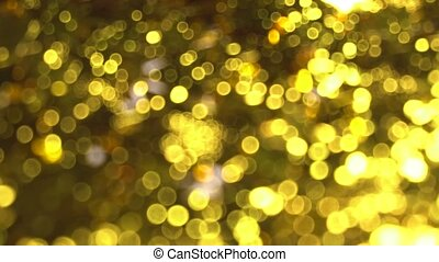 Golden blurred shiny background