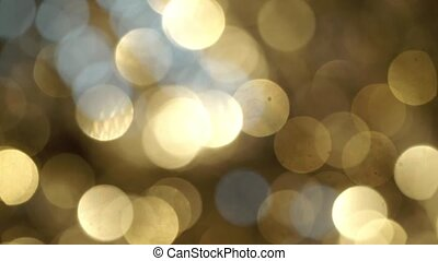 Golden blurs bokeh abstract shine