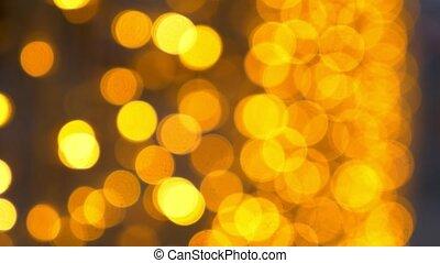 golden bokeh background. a lot of golden blurry lights.
